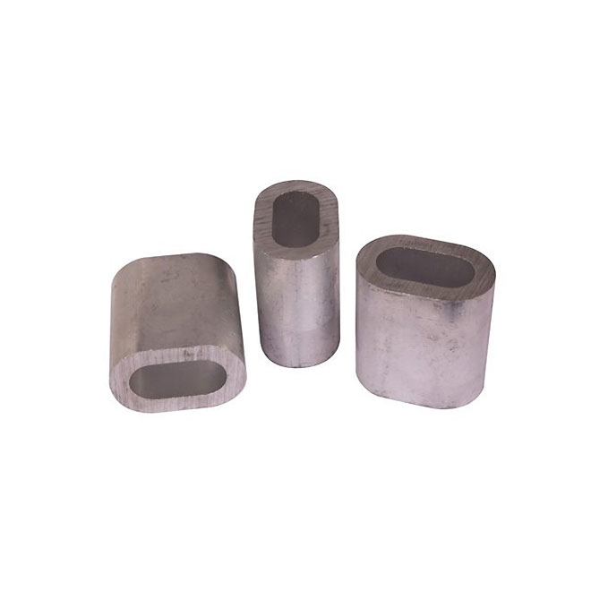 Manchon ovale en aluminium, 3/16'', paquet de 5