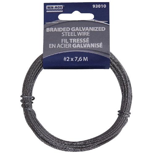 Braided Galvanized Steel Wire - 7.6 m - # 2