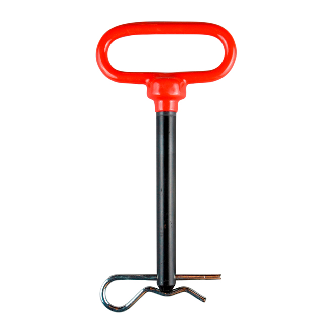 Goupille d'attelage Ben-Mor, 1/2 po diamètre x 3 1/2 po L., vinyle rouge, métal thermolaqué