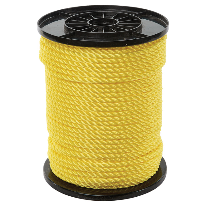 "Corde polypropylène, torsadée à 3 torons, 5/16"" x 400', jaune"