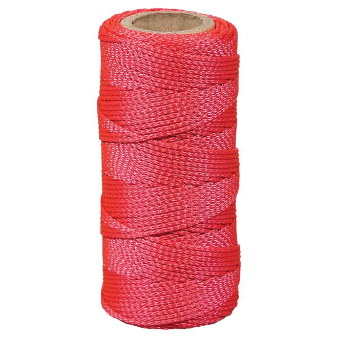 Nylon Seine Twine - Braided - #18 x 200' - Pink