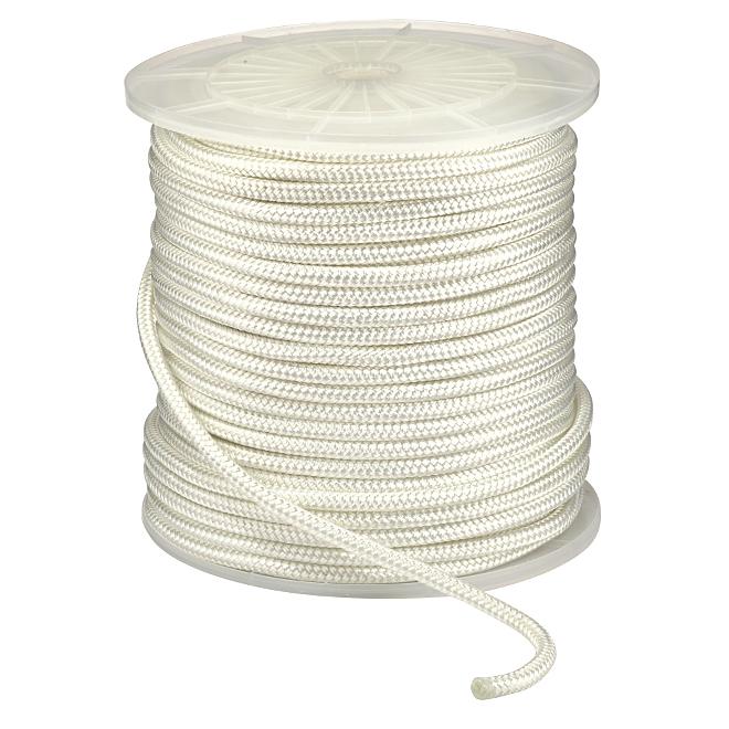 "Corde en nylon, double tressée, 1/2"" x 400', blanche"