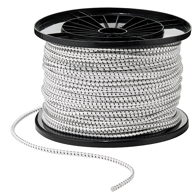 "Nylon Rope - Elastic Stretch - 1/4"" x 500' - White"