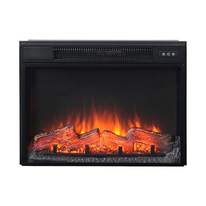 Foyer électrique Flamelux, 1500 W, 25 po, noir