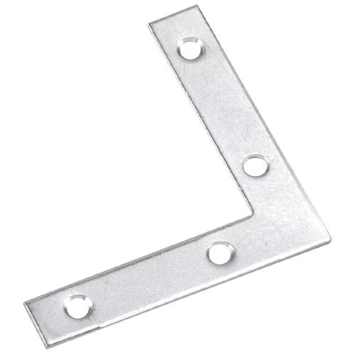 """Équerre plate, 4"""" X 3/4"""", acier, zinc"""