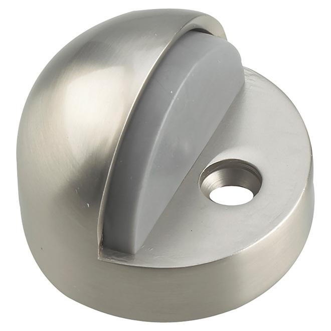 Butoir de porte en dôme à profil haut Onward, acier, nickel brossé, 5 3/4 po L. x 2 po H. x 3 po diamètre