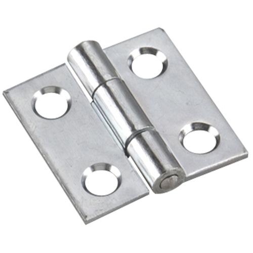 Charnières étroites à goupille fixe Onward, 1 po x 1 po, zinc, paquet de 2