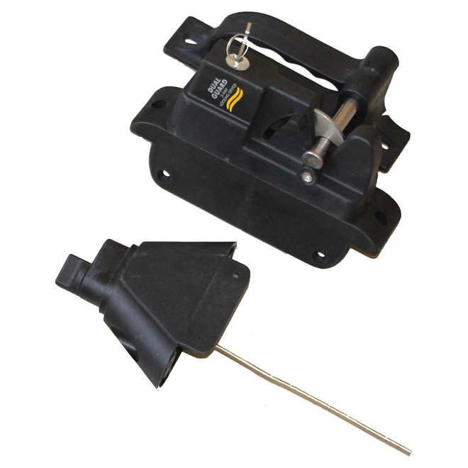 Polymer Gate Locking Latch - 2-Sided - Black