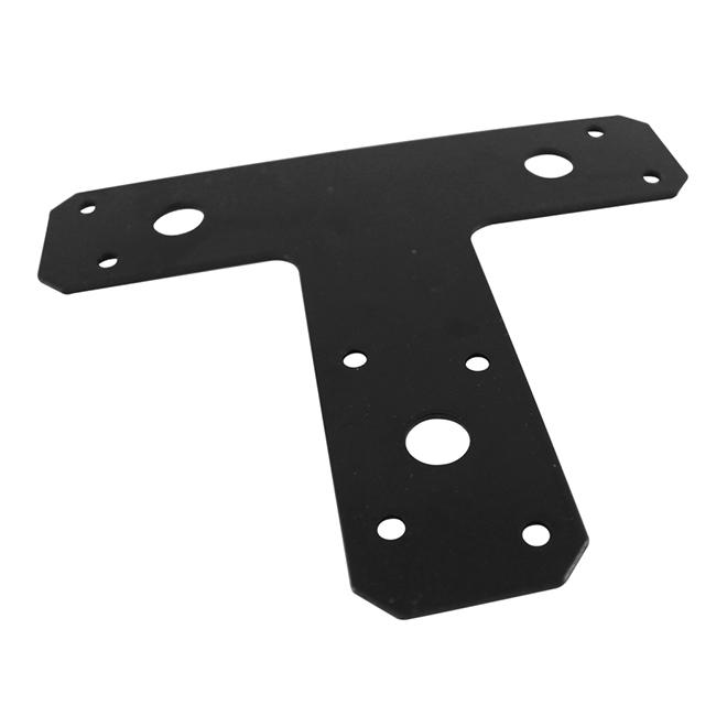 Lamelle d'assemblage en T d'Onward, 1 1/2 po l. x 6 po L., noire, acier