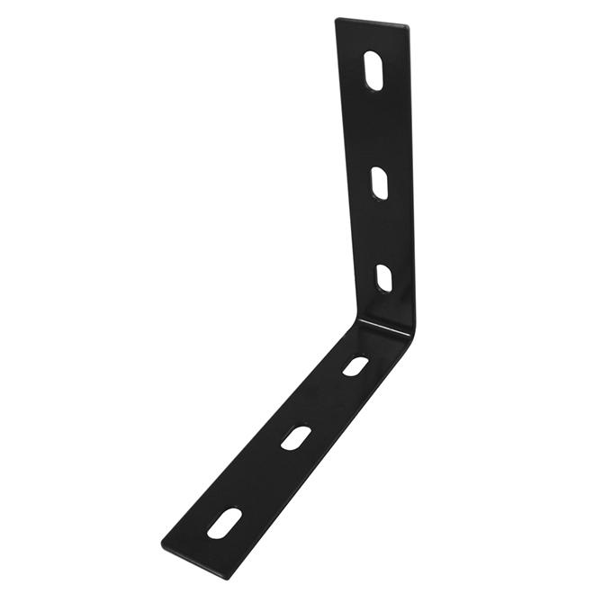 Équerre d'assemblage longue ajustable Onward, 1 1/2 po l. x 10 1/4 po L., noire, acier