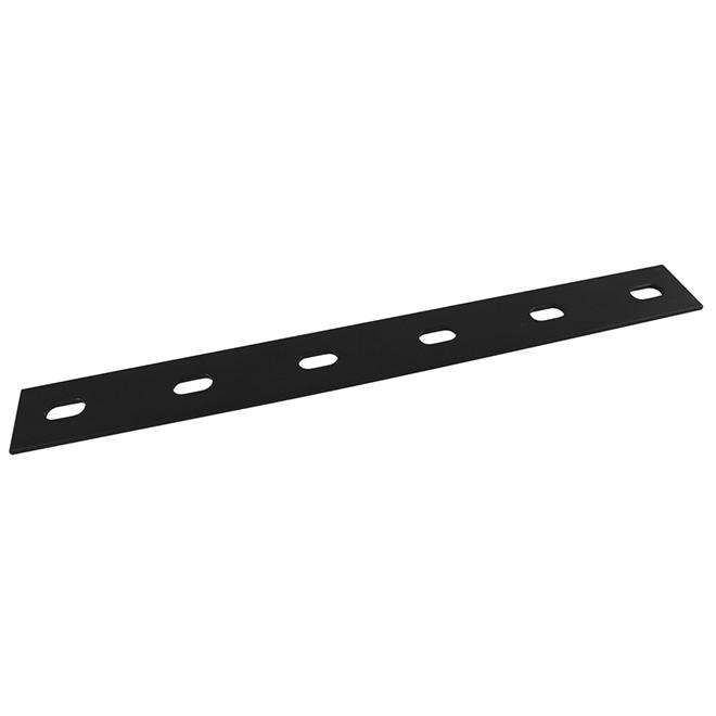Lamelle d'assemblage partiellement réglable Onward Hardware, 14 po L. x 1 1/2 po l., acier noir thermolaqué, paquet de 5