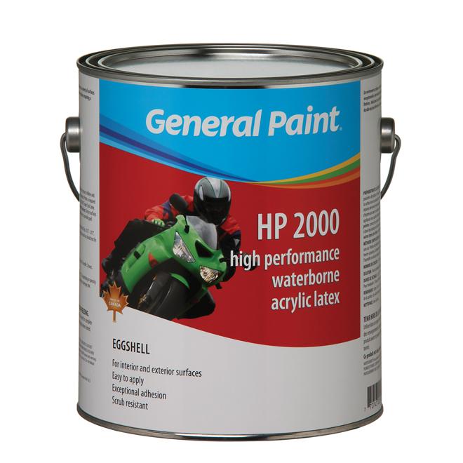 Peinture intérieur/extérieur «HP 2000» au latex, coq. d'oeuf