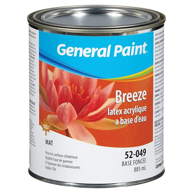 Peinture au latex acrylique à base d'eau, mat, base blanche