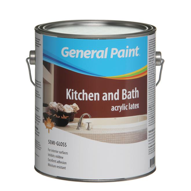 Peinture d'intérieur au latex pour cuisine et salle de bain