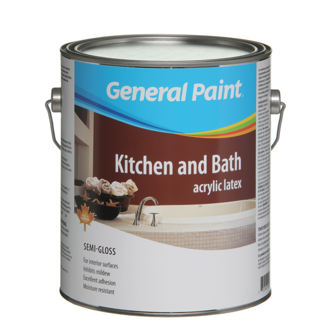 Interior Kitchen and Bathroom Latex Paint