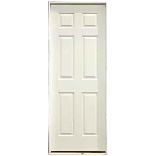 """6-Panel Pre-Hung Interior Door 28"""" x 80"""" - Left"""