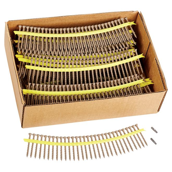 Vis à bois à tête étoilée Quik-Drive Deck-Drive DSV de Simpson, filetage asymétrique, paquet de 1000, no 10 x 2 1/2 po