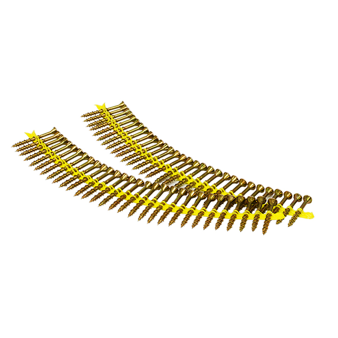 Simpson Strong-Tie QuikDrive Collated Sub-Floor Screws - Yellow Zinc - #9 dia x 2 1/2-in L - 1500 Per Pack