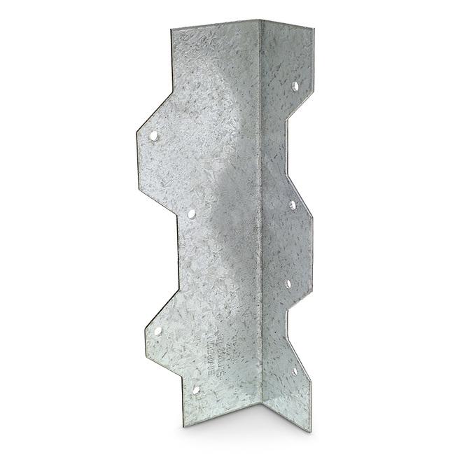 Cornière de renforcement Simpson Strong-Tie, 7 po L., calibre 16, galvanisation GMAX, angle droit, paquet unitaire