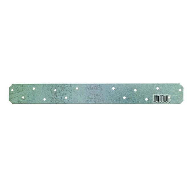 Plaque d'attache droite Simpson Strong-Tie, 12 po L., calibre 12, galvanisé, acier, paquet unitaire