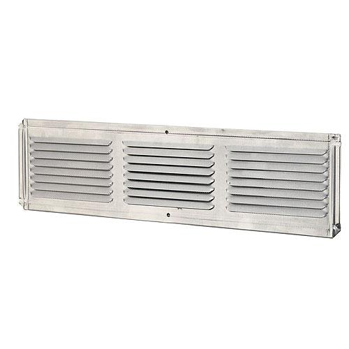 """Évent de sous-face pour avant-toit en aluminium, 16"""" x 4"""""""