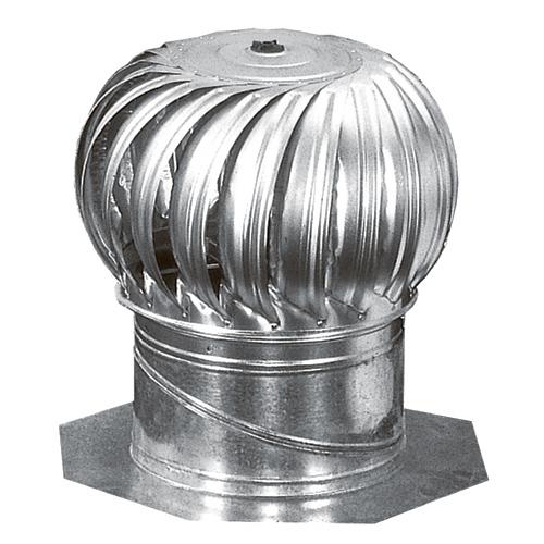"Turbine rotative avec support interne, galvanisée, 12"""