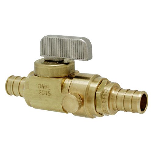 PEX In-line Stop and Isolation Valve with Drain