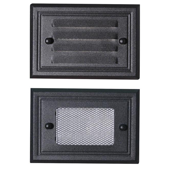 Lumière de patio à bas voltage, DEL, aluminium, noir