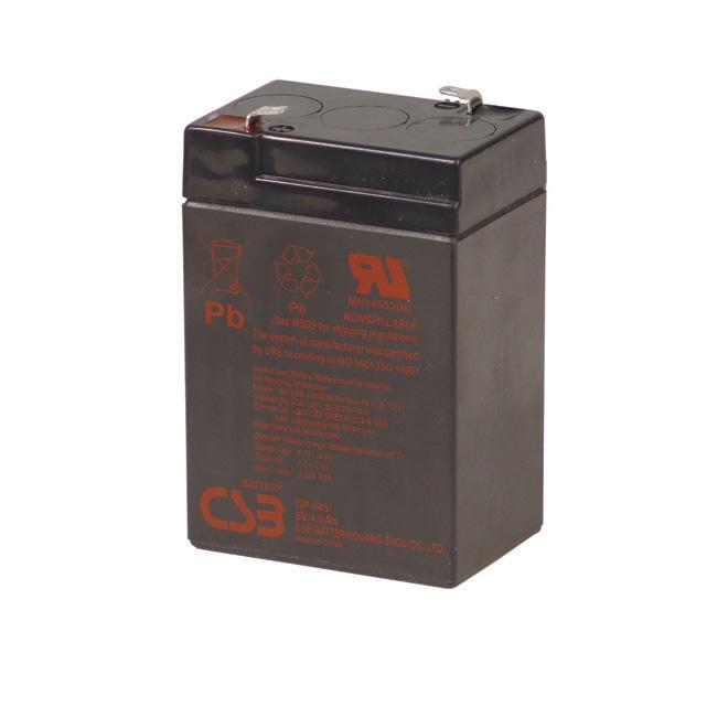 Batterie de remplacement «GP645», 6 V, 4,5 Ah