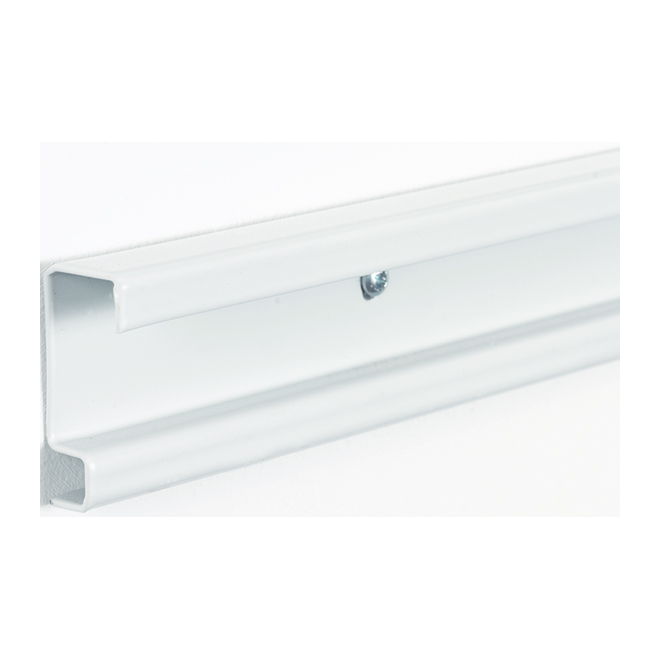 Rail horizontal « ShelfTrack », 2 po x 80 po, blanc