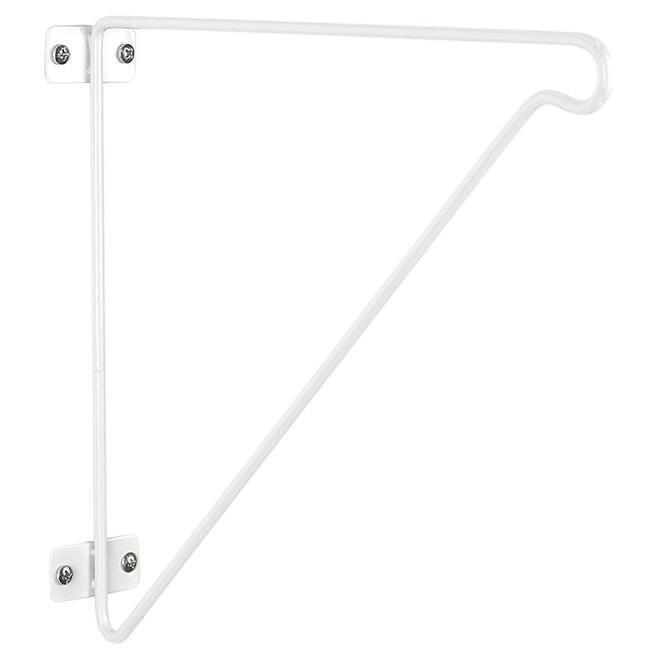 Support à tringle en métal blanc