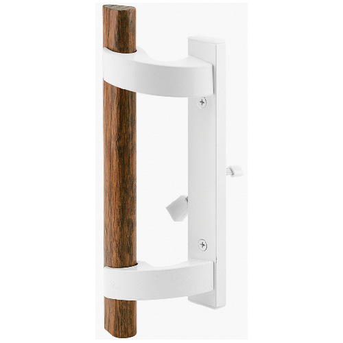 Mortise Style Handle Set with Lock - White