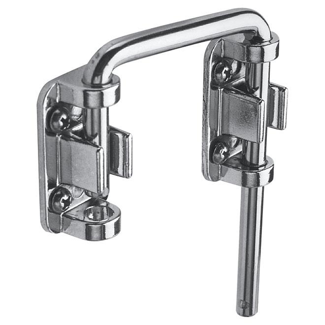 """Sliding Door Loop Lock - 2 1/8"""" - Steel - Chrome Plated"""