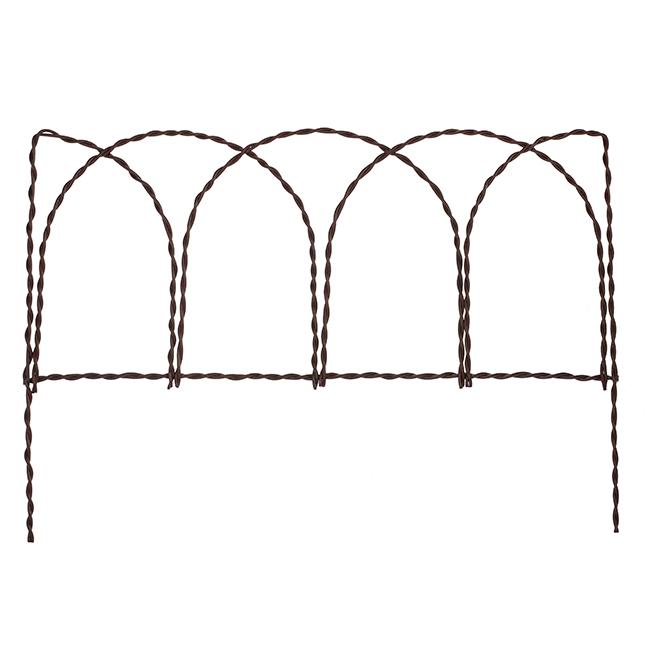"""Clôture décorative rustique en acier, 14"""" x 20"""", rouille"""