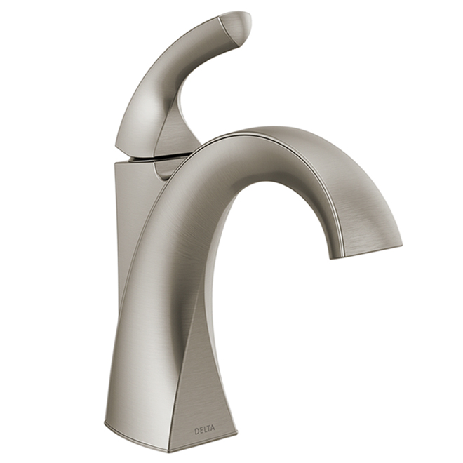 Delta Downing Single Handle Centerset Bathroom Faucet - Metal 4-in Nickel