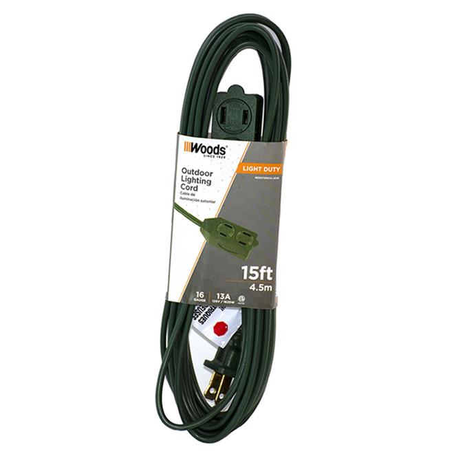 Indoor 16/2 Extension Cord - 4.5 m - Green