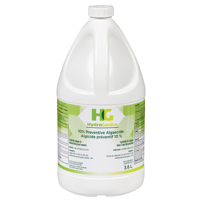 Algicide liquide, 10 %, 3,6 litres
