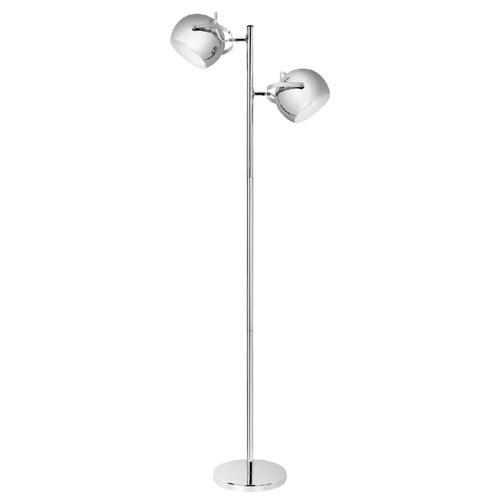 """Lampe sur pied 60"""", chrome"""