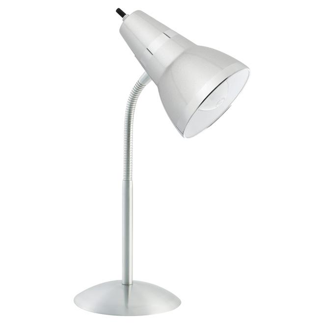 Lampe de bureau de 15 po - blanche