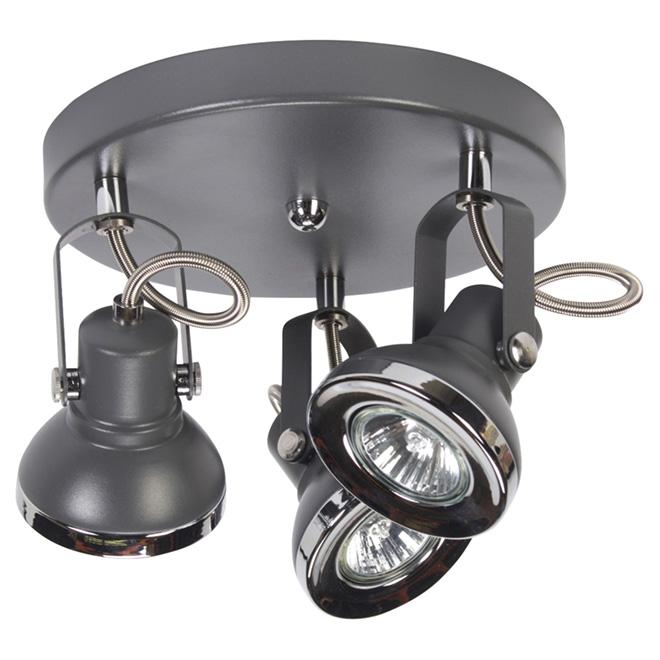 Plafonnier à 3 lumières Lawrence Grey, 50 W