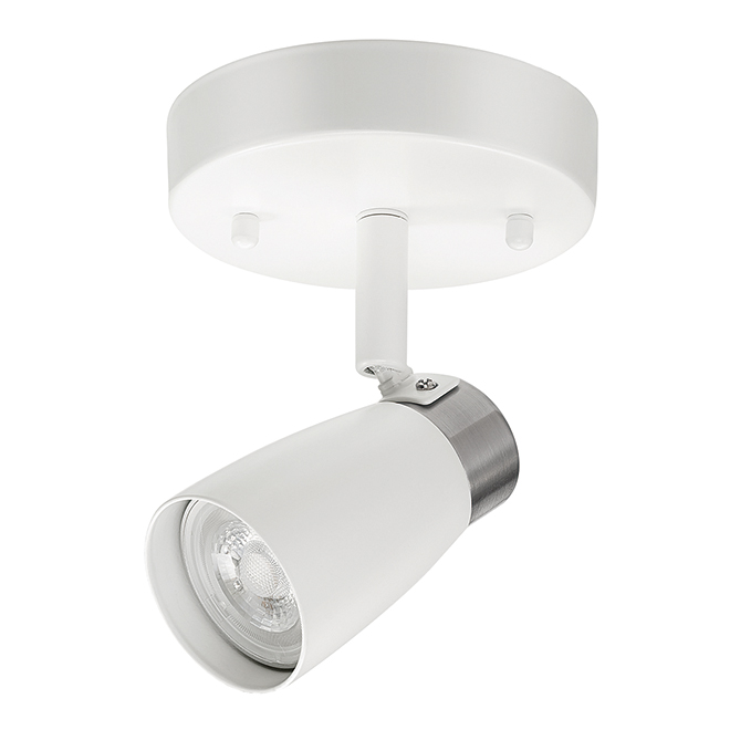 Luminaire plafonnier, 1 projecteur, 50W, blanc