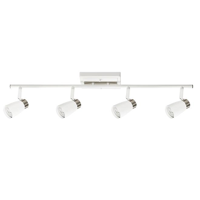 Éclairage sur rail, 4 projecteurs, 50W, blanc