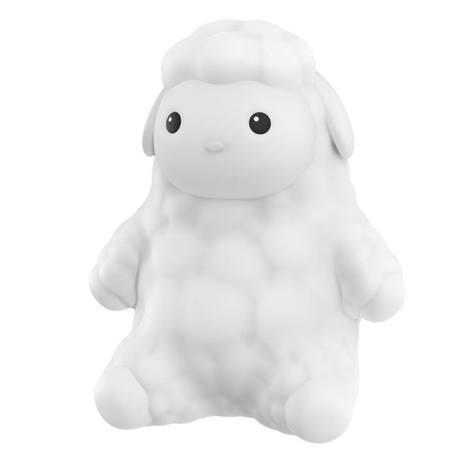 Veilleuse Globe Electric modèle mouton, DEL à couleur changeante, rechargeable, silicone, blanc