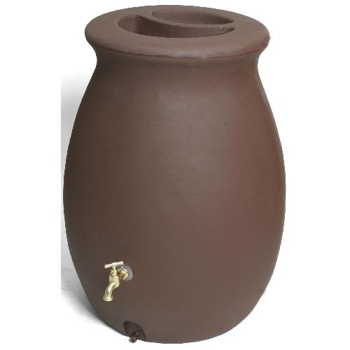 Baril de pluie Algreen Castilla de 50 gallons, brun
