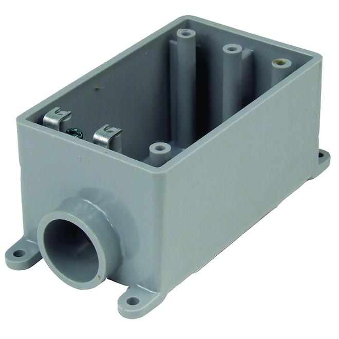 Boîte grise profonde FSS individuelle en PVC