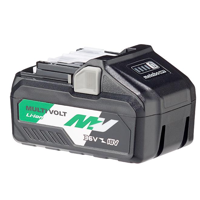 Metabo HPT MultiVolt 36-Volt 4Ah Lithium Ion Battery - 4-Stage Fuel Gauge - Multiplex Circuitry Protection - USB Port