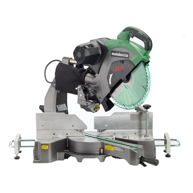 "Dual Bevel Sliding Mitre Saw with Laser - 12"" - Aluminum"