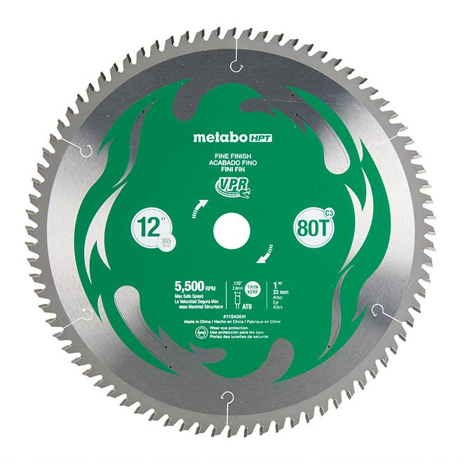 Carbon Steel Mitre Saw Blade - 12'' - 80 Teeth