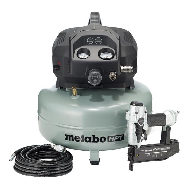 Compresseur à air Metabo HPT, 6 gal, 150 lb/po², vert et noir