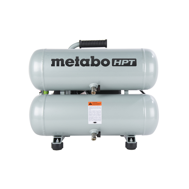 Compresseur à air Metabo HPT jumeau superposé, portatif, 4 gallons